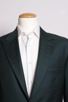 Racing Green Gabardine — De Oost Bespoke Tailoring