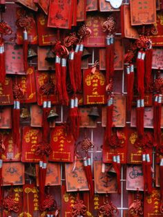 red prayer flags