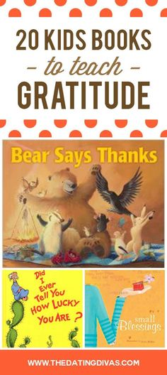 List of the 20 BEST books to teach kids gratitude - perfect for Thanksgiving.