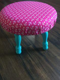 ELLES CAGE children stool. Pink Anchor $35
