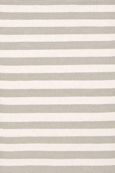 Trimaran Stripe Platinum/ Ivory  Indoor/Outdoor Dash & Albert Available in 6 sizes