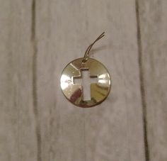 SALE  Cross Silver-toned Charm  by ifrogcrafts on Etsy