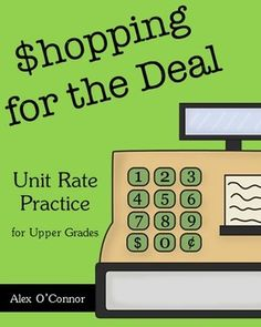 This is a one day middle school math activity that focuses on finding unit rates in order to compare two different rates. Students are going on a trip, but first they must go grocery shopping! They will use their knowledge or ratios and unit rates in order to save as much money as possible!