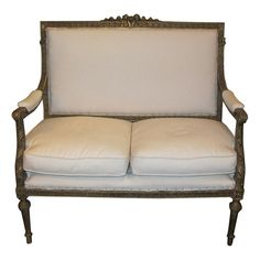 French Antique Louis XVI Style Settee