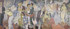 Tove Jansson Gallery at Helsinki Art Museum - Moomin Tove Jansson, Art And Illustration, Illustrations, Moomin Books, New Museum, Helsinki, Art Google, Fresco, Modern Art