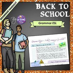 Back to school ESL - Grammar and Vocabulary