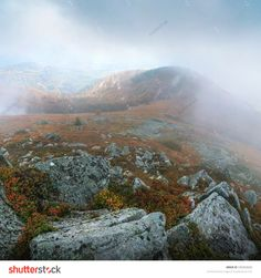 Stock photo: Carpathians in the clouds. Europe, Ukraine Landscape and nature photography by Sergey Ryzhkov
