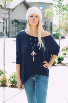 NanaMacs Boutique - Basic Boxy Asymmetrical Top (Navy), $32.00 (http://www.nanamacs.com/basic-boxy-asymmetrical-top-navy/)