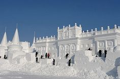 Daily Pictures: Amazing Ice Architecture Sculptures at China's Snow World Festival