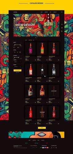 Website Designs One Page Web Design - Fashion portfolio ideas Craft Beer Shop, Craft Beer Gifts, Craft Beer Labels, Pop Design, Design Lab, Graphic Design, Website Design Inspiration, Website Design Layout, Website Designs