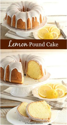 Homemade Lemon Pound Cake is wonderfully moist and drizzled with lemon icing. Icing For Pound Cake, Butter Bundt Cake Recipe, Moist Lemon Pound Cake, Lemon Bundt Cake, Icing Recipes, Pound Cake Recipes, Lemon Recipes, Cupcake Recipes, Lemon Desserts