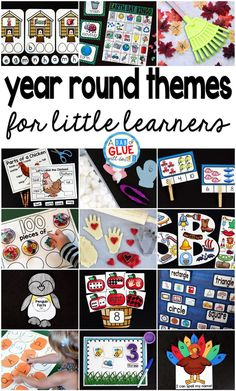 When I was in the classroom I LOVED incorporating themes into my units. My hope is that eventually this page will showcase printables, activities, and teaching ideas for themes throughout the emtire school year. I hope that you can find some inspiration for you to use at home or in the classroom. Everything will be geared towards preschool to the first grade age range. I hope that you enjoy!
