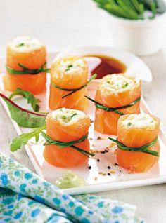"""Sushis de """"ratte"""" au saumon fumé"""