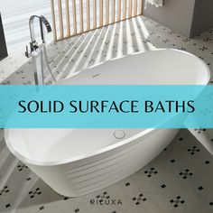 Solid surface is a manmade material similar to natural stone and a popular option for bathtubs due to its smooth texture and heat-retention properties. Solid surface material is durable and stain resistant, easy to maintain and comes in an enormous range of custom colours. Enjoy exploring our stunning collection of freestanding solid surface bathtubs in many styles - oval, round and rectangular baths, clawfoot baths or flush to the floor, in both modern and classical decor styles. Claw Foot Bath, Corian, Solid Surface, Bathtubs, Natural Stones, Decor Styles, Exploring, Smooth, Range