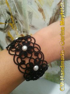 Beautiful tatted bracelet by: CM-Handmade: Long time not here By CM-Handmade