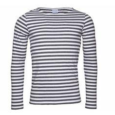 Vaella Clothes - Blunt EKO Long T-shirt Long Sleeve Grey Stripe ($77) ❤ liked on Polyvore featuring men's fashion, men's clothing, men's shirts, men's t-shirts, mens long sleeve shirts, mens longsleeve shirts, mens grey t shirt, mens striped shirt and mens gray dress shirt
