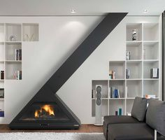 19 Stunning Fireplace Ideas With Unique Designs That Will Amaze You Arch Interior, Interior And Exterior, Interior Design, Modern Fireplace, Fireplace Design, Fireplace Ideas, Hanging Fireplace, Freestanding Fireplace, Rocket Stoves
