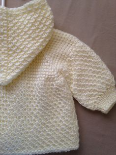 Off-White Cream Crochet Baby Girl Sweater with by ForBabyCreations
