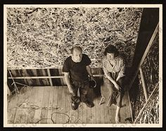 Jackson Pollock and Lee Krasner in Pollock's studio, ca. 1950