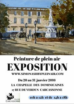 EXPOSITION-PEINTURE DE PLEIN AIR Carcassonne France, Free Entry, Pictures, Photos, Drawings