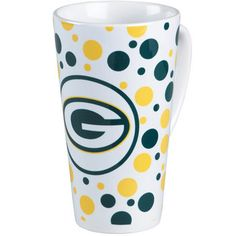 e41f98c93297 Green Bay Packers Polka Dot Latte Mug at the Packers Pro Shop. Bianca  Howell · Go Pack Go!