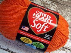 NEW Red Heart #Yarn Soft Tangerine Worsted Weight Bright Orange Pumpkin Yarn #crochet #knitting
