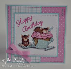 House Mouse Cupcake - Ice Cream stamps - card http://cardsbyfernie.blogspot.co.uk/2014/09/hello-two-posts-from-me-in-one-day-i.html