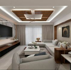 Latest Ceiling designs for drawing room Drawing Room Ceiling Design, House Ceiling Design, Ceiling Design Living Room, Bedroom False Ceiling Design, False Ceiling Living Room, Home Room Design, Living Room Designs, False Ceiling For Hall, Living Room Modern