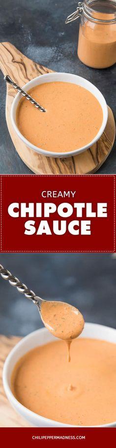 Homemade Chipotle Sauce - Recipe | ChiliPepperMadness.com #chipotle #sauce