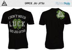 Gracie Jiu-Jitsu Lucky Charm Shirt – Black at http://www.fighterstyle.com/gracie-jiu-jitsu-lucky-charm-shirt/