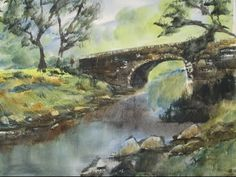 How to paint watercolour landscapes with the large hake brush