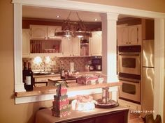 kitchen pass through ideas | ... kitchen now looks so much more spacious., AFTER: Pass through with: