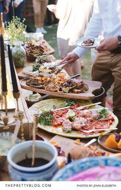 A Fantastically Flamboyant Forest Feast | Real weddings | The Pretty Blog