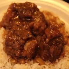 Definitely DOUBLE this one.  You can use Slow cooker instead of pressure cooker. Use Butter beans and add brown sugar Jamaican Oxtail with Broad Beans Allrecipes.com