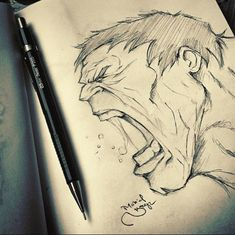 The hulk drawing Marvel Drawings, Cartoon Drawings, Pencil Drawings, Cool Drawings, Drawing Sketches, Hulk Marvel, Marvel Art, Marvel Comics, Avengers
