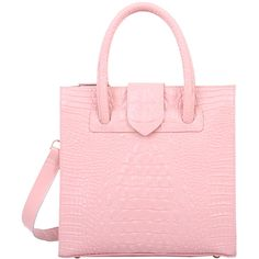 Mellow World Maisy Tote pink ($43) ❤ liked on Polyvore featuring bags, handbags, tote bags, pink tote, faux leather tote, faux leather tote bag, mellow world purses and vegan leather tote