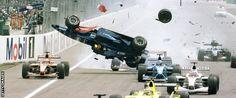 Luciano Burti flip at Hockenheim 2001 German GP