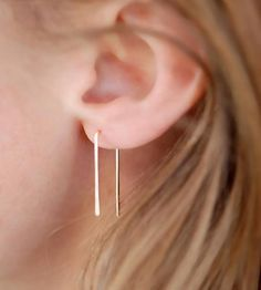 Bent Earrings by Gunnard Jewelry on Scoutmob Shoppe Simple Jewelry, Jewelry Box, Jewelery, Simple Earrings, Gold Earrings, Minimal Jewelry, Drop Earrings, Fashion Accessories, Jewelry Accessories