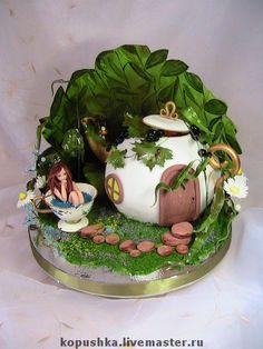 "Handmade Cake ""fairy tea house."""