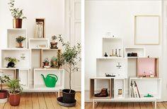 Estanterías modulares Cubo, decorativas y muy prácticas