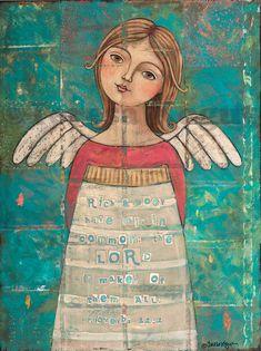 www.teresakogut.com 3181 Maker of them all with scripture Angel Prints