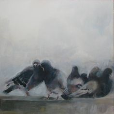 "Saatchi Art Artist Marina Shkarupa; Painting, ""doves"" #art"