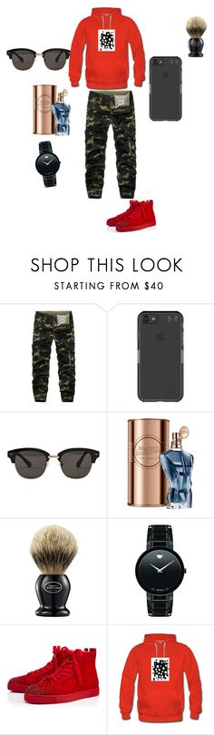 """Menwear"" by xxmmmxx ❤ liked on Polyvore featuring Under Armour, Gentle Monster, John Lewis, The Art of Shaving, Movado, Christian Louboutin, men's fashion and menswear"
