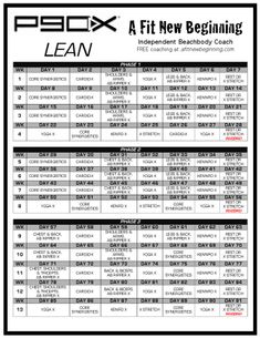 P90X Excel Spreadsheet. Choose the workout style and put in your ...
