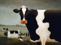 lowell herrero art | Animal Art - Herrero Lowell] Wisconsin Cow; DISPLAY FULL IMAGE.