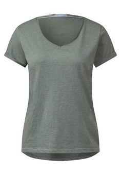 CECIL Basic Shirt mit V Neck