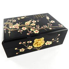 "Boite à bijoux ""Fleurs de prunier"" - FengShuiPanda"