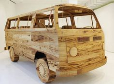 Love this VW Bus made of wood vw volkswagen bus kombi art design woodworking woodwork wooden car vwfan garage awesome reclaimed wood reclaimedwood mondialauto volkswagen Volkswagen Transporter, Volkswagen Bus, Vw T1 Camper, Combi Ww, Combi Split, Wood Sculpture, Fire Trucks, Akita, Pecky Cypress