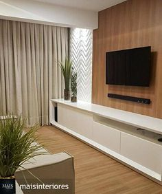 35 Amazing Wall TV Cabinet Designs for Cozy Family Room – Whether you live in a spacious house or live in a small apartment, the living room is a place where you can relax with your family, e… Tv Unit Decor, Tv Wall Decor, Tv Cabinet Design, Tv Wall Design, Living Room Tv Unit, Living Room Decor, Shed Interior, Interior Decorating, Interior Design