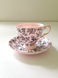English Fine Bone China Tuscan Teacup and Saucer Tea Party - c. 1950s